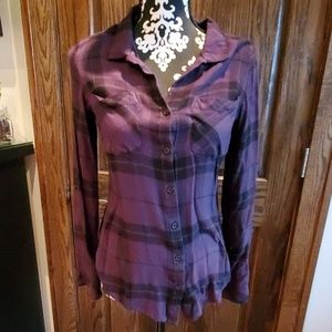 Plaid button shirt